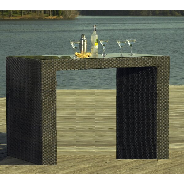 South Hampton Outdoor Wicker Bar Table by ElanaMar Designs