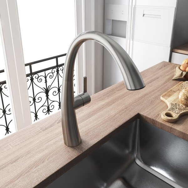 Pull Down Single Handle Kitchen Faucet by YZZY YZZY
