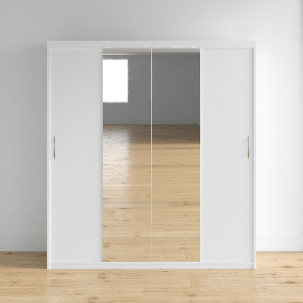 Zanders Armoire with Mirror Sliding Doors by Brayden Studio