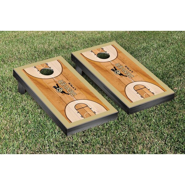 Colorado Denver Lynx Basketball Court Version Cornhole Game Set by Victory Tailgate