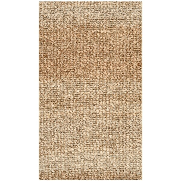 Calidia Hand-Loomed Gold Area Rug by Highland Dunes