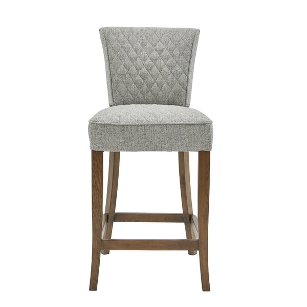 Highline Quilted Bar Stool by Gracie Oaks