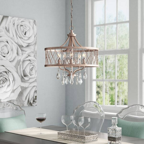 Cece 5-Light Unique / Statement Drum Chandelier by Willa Arlo Interiors Willa Arlo Interiors