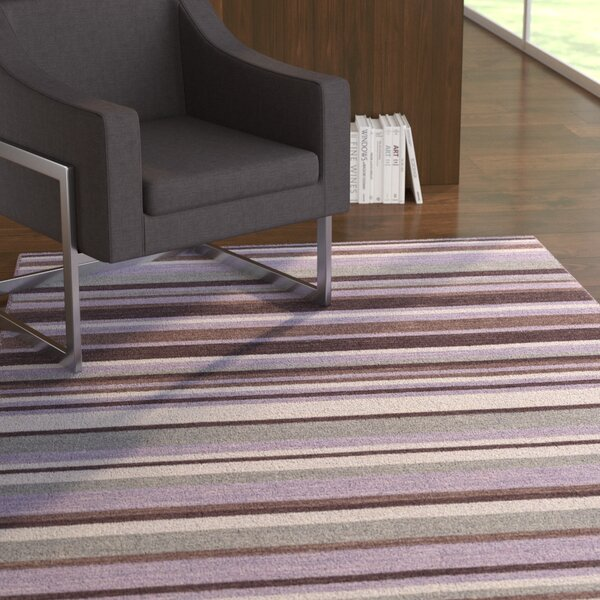 Dixon Hand-Woven Bright Purple Area Rug by Ebern Designs