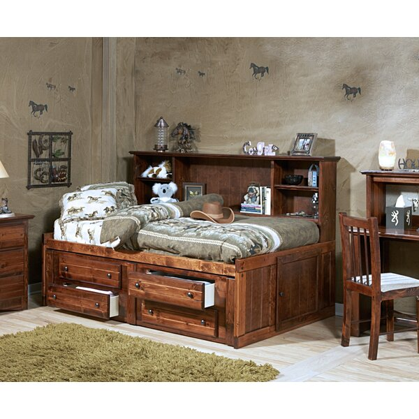 Cummings Twin Bed with Bookcase and Drawers by Harriet Bee