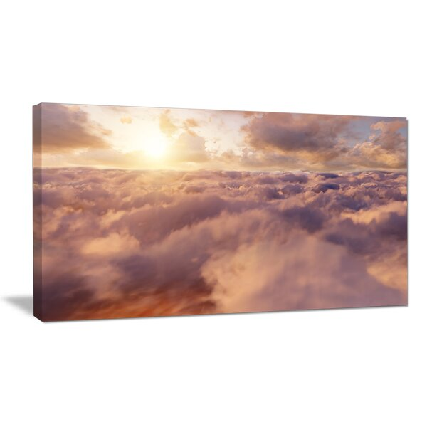 Amazing Sky above Clouds Photographic Print on Wrapped Canvas by Design Art