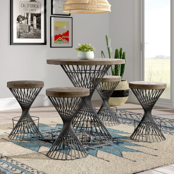 @  Jason 5 Piece Counter Height Dining Set By Mistana Herry Up