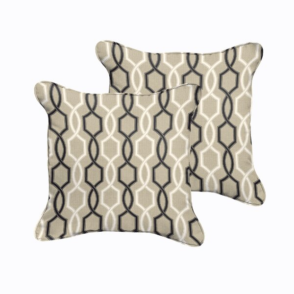 Bank Indoor/Outdoor Throw Pillow (Set of 2) by Darby Home Co