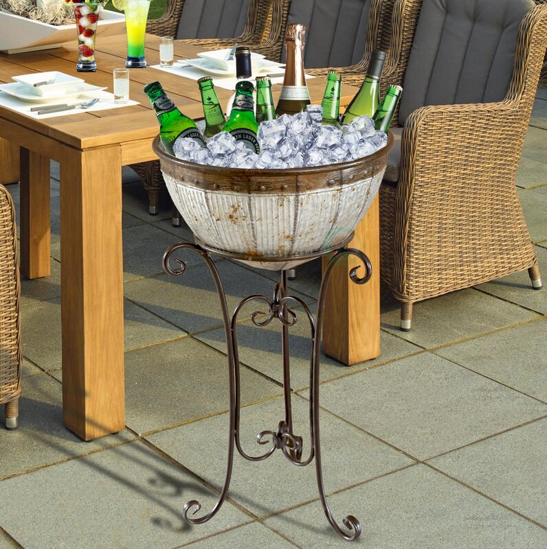 galvanized party com piece birdrock tray set amazon silverware metal beverage home and dp tub caddy