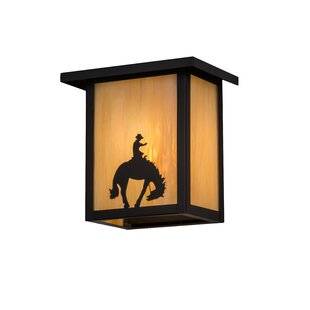 Compare prices Yamada Cowboy 1-Light Outdoor Flush Mount By Loon Peak