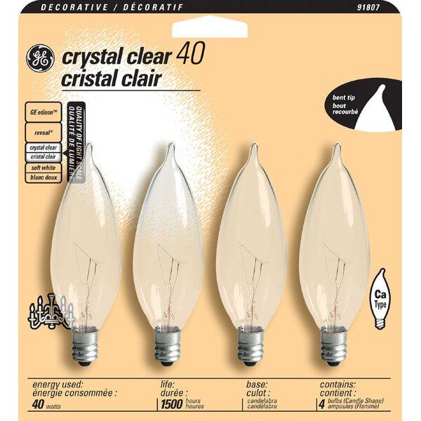 120-Volt (2500K) Incandescent Light Bulb (Pack of 4) by GE