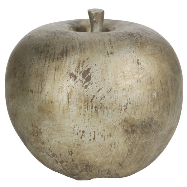 Antique Silver Apple Sculpture by August Grove