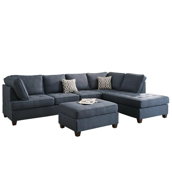 Allenhurst Right Hand Facing Sectional with Ottoman by Charlton Home Charlton Home
