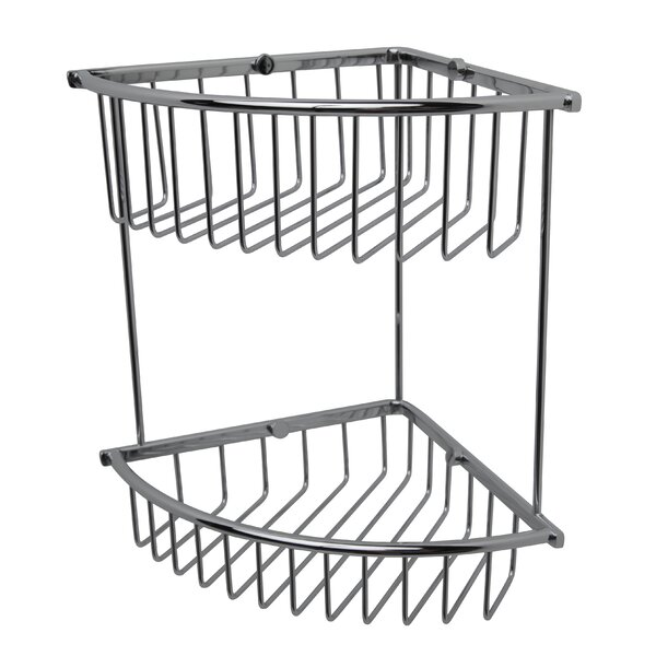 Essentials Double Corner Wire Shower Caddy by Valsan