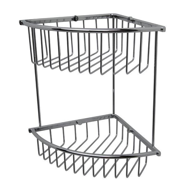 Essentials Double Corner Wire Shower Caddy by Valsan