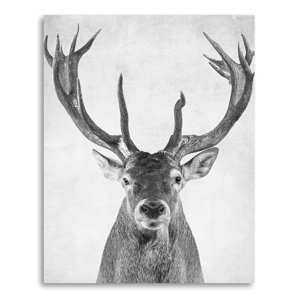 Animal Prints Deer in Portrait Format Paper Print by Coco and James