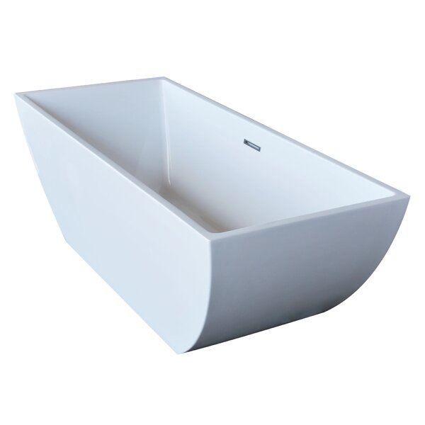 Beryl 66.75 x 29.38 Rectangle Acrylic Freestanding Bathtub by Spa Escapes
