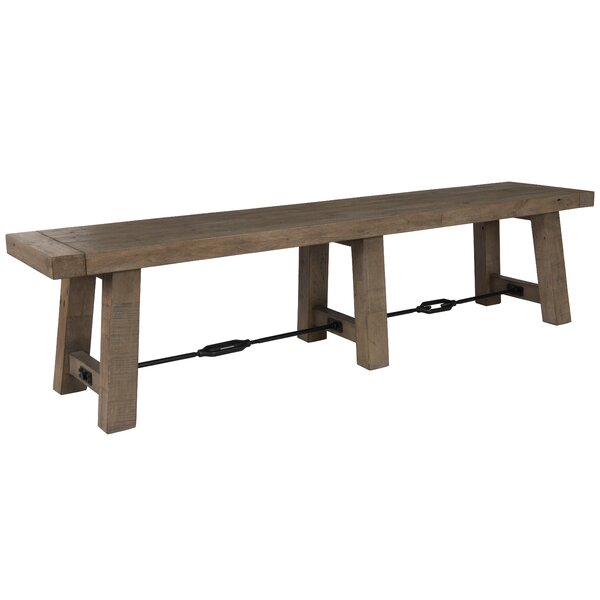 Kellerman Wood Bench by Gracie Oaks
