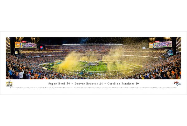 NFL Superbowl 2016 by Christopher Gjevre Photographic Print by Blakeway Worldwide Panoramas, Inc