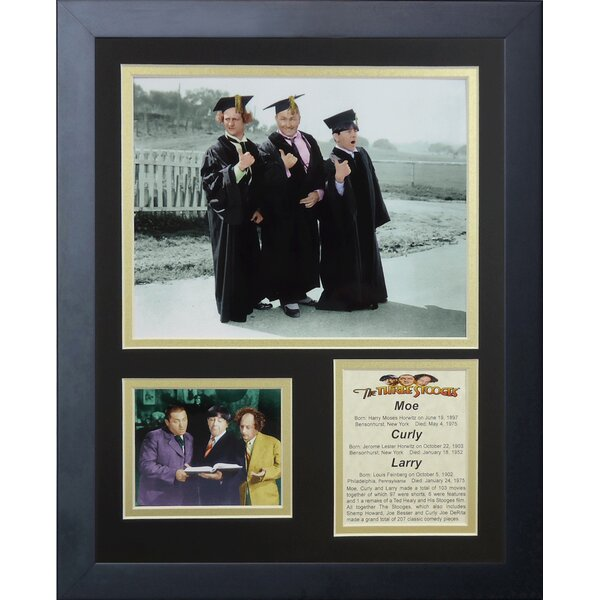 The Three Stooges Scholars Framed Photographic Print by Legends Never Die