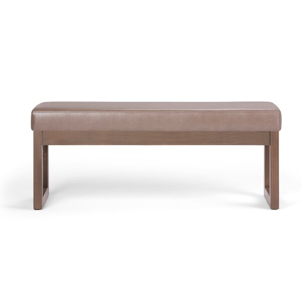 HamLake Faux Leather Bench by Modern Rustic Interiors