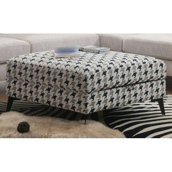 Bewdley Houndstooth Pattern Ottoman by Brayden Studio