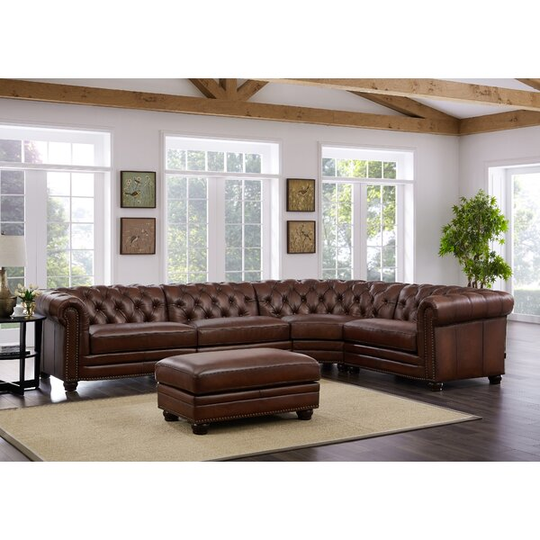 Madison Leather Symmetrical Sectional by HYDELINE
