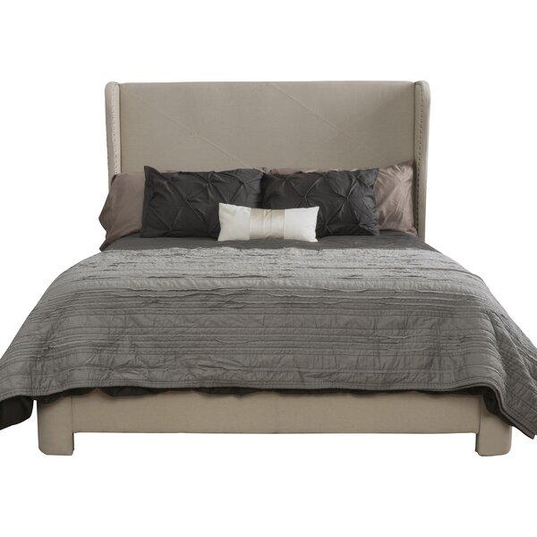 Alcott Hill Bellville King Upholstered Panel Bed Amp Reviews