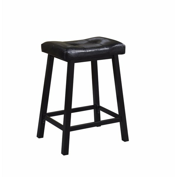 Lahey Upholstered Tufted Backless 24 Counter Height Bar Stool (Set of 2) by Winston Porter