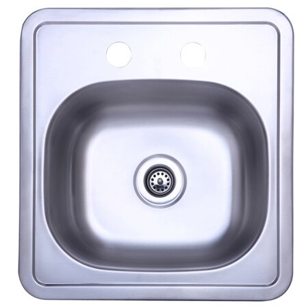 15 L x 15 W Single Bowl Kitchen Sink by Elements of Design