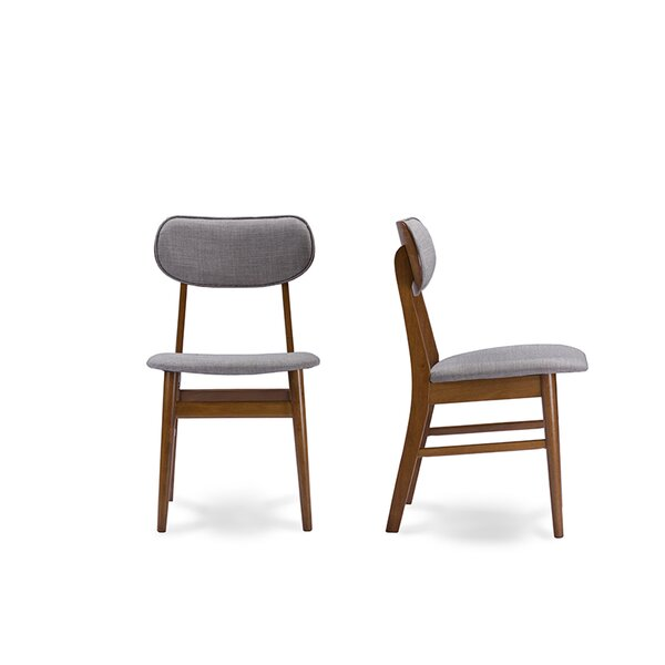 Lannie Upholstered Dining Chair (Set of 2) by Wrought Studio