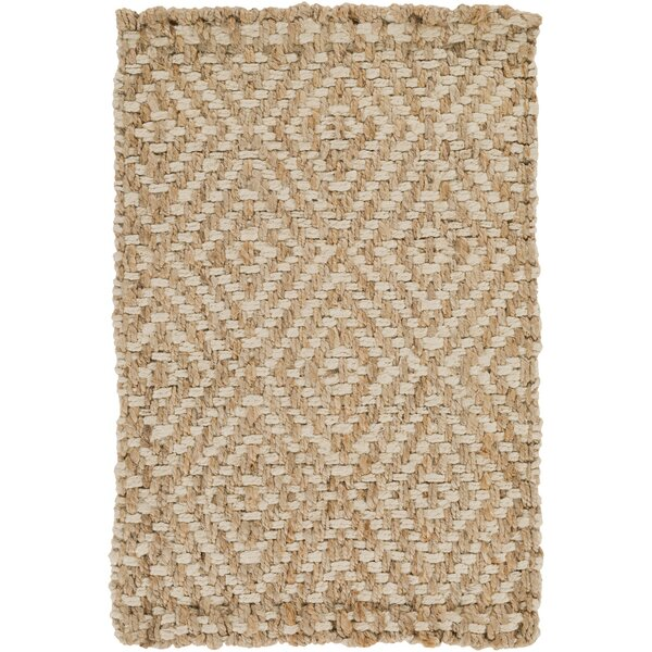 Annalee Hand-Woven Cream/Tan Area Rug by Beachcrest Home