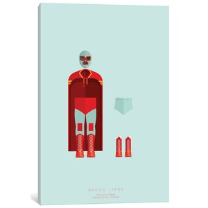 'Famous Hollywood Costumes Series: Nacho Libre' Graphic Art Print on Canvas by East Urban Home