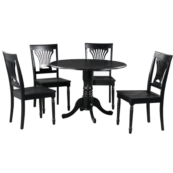 Best #1 Brompton 5 Piece Drop Leaf Solid Wood Dining Set By Alcott Hill Top Reviews