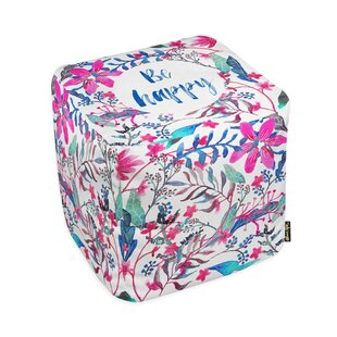 Oliver Gal Home Colorful Happy Pouf