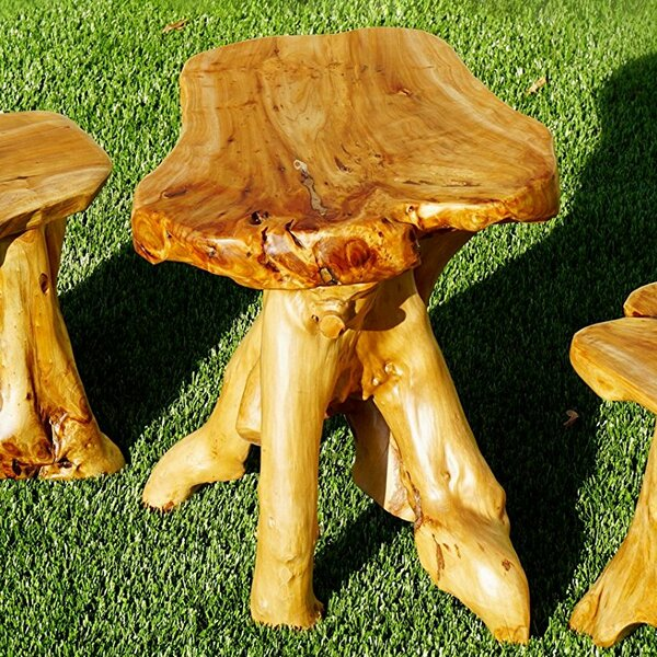 Wood Stump Mushroom Accent Stool by Welland LLC