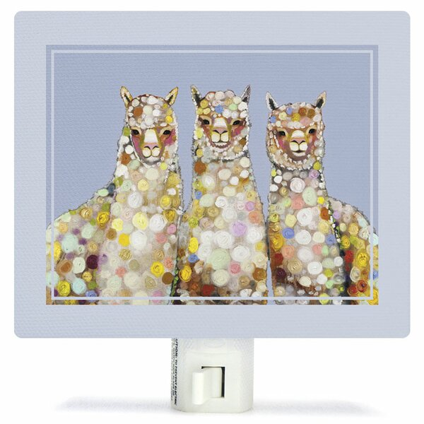 Alpaca Trio by Eli Halpin Canvas Night Light by Oopsy Daisy