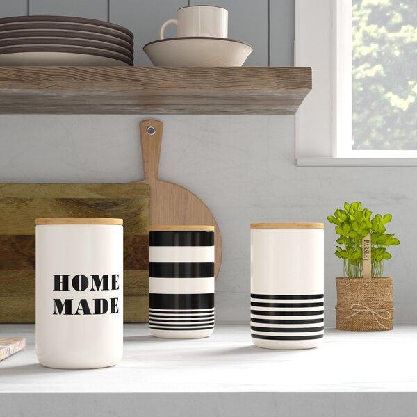 Meggan Ceramic 3 Piece Kitchen Canister Set by Mint Pantry