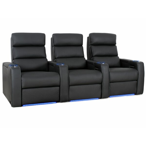 Power Leather Home Theater Sofa By Orren Ellis