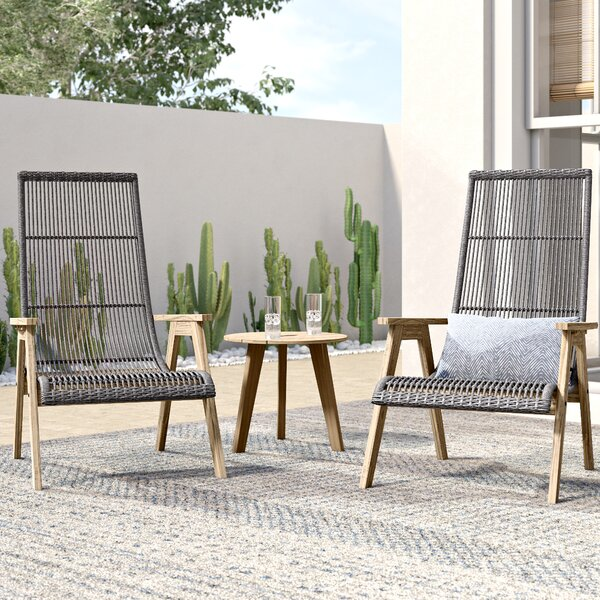 Largent 3 Piece Teak Seating Group by Mistana