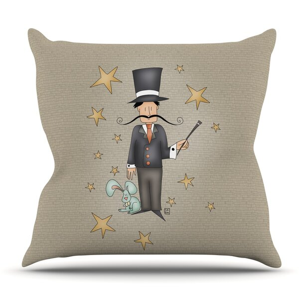 Circus Magician by Carina Povarchik Outdoor Throw Pillow by East Urban Home