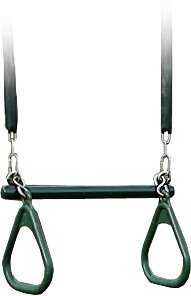 Trapeze Swing with Soft Grip Chain by YardCraft