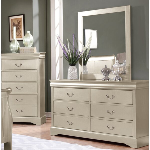 Citrana 6 Drawer Double Dresser with Mirror by House of Hampton