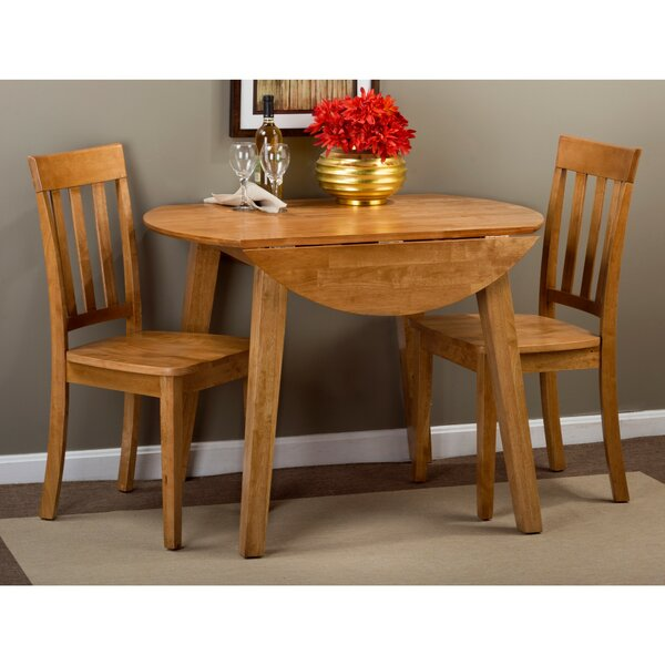 Wallis 3 Piece Drop Leaf Solid Wood Dining Set by August Grove