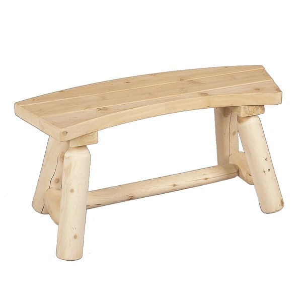 Curved Wood Picnic Bench by Rustic Natural Cedar Furniture