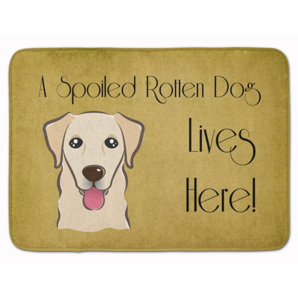 Retriever Spoiled Dog Lives Here Memory Foam Bath Rug by East Urban Home