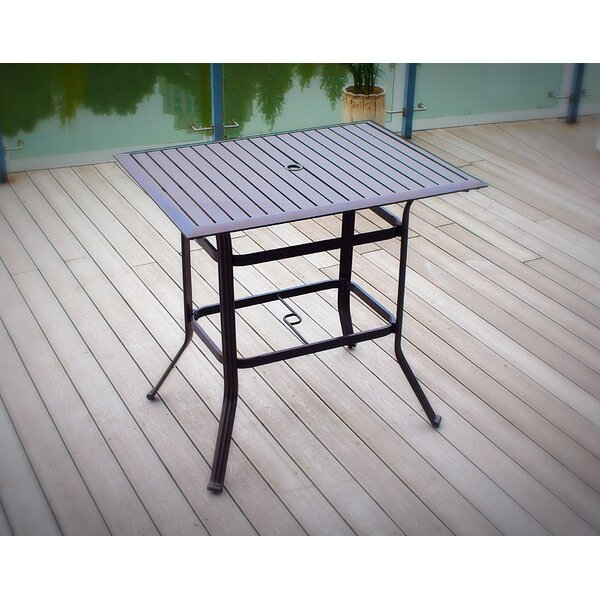 Thurlow Metal Bar Table by Fleur De Lis Living Fleur De Lis Living