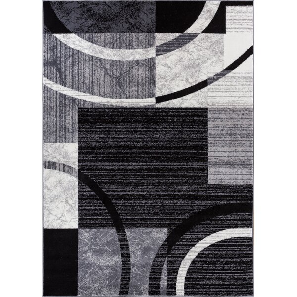 Cuadrado Black Area Rug by Orren Ellis