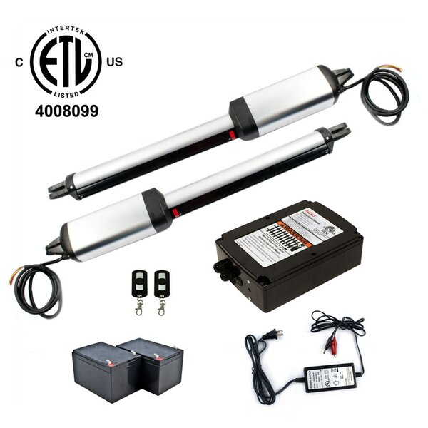 Dual Swing Gate Operator ETL Listed Back-up Kit by ALEKO