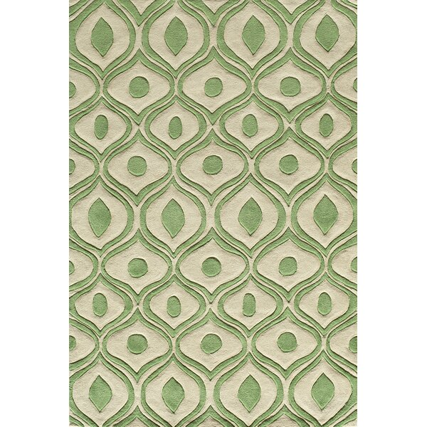 Ella Hand-Tufted Green Area Rug by Langley Street